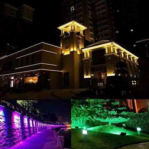 Le foco led rgb exteriores 10w modos de luz proyector led de colores decoraci n de jard n - Focos led con luces de colores ...